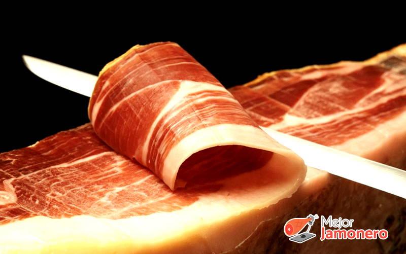 como cortar el jamón