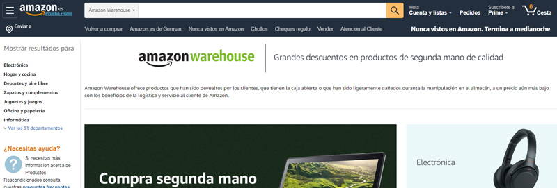 productos de segunda mano en amazon