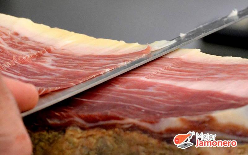 cortar jamón