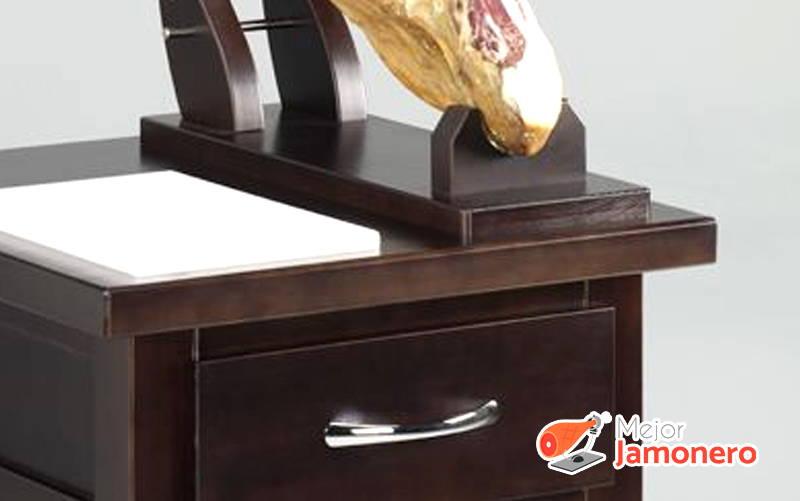 espacio almacenaje cajón mesa jamonera