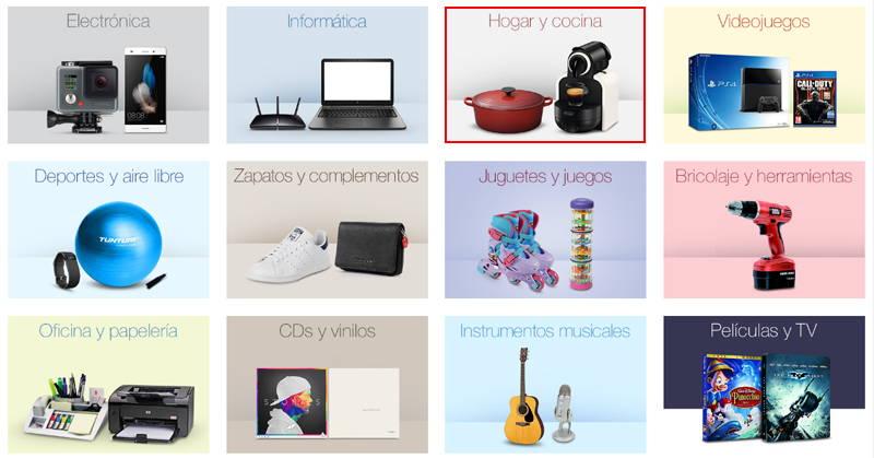 categorías produtos reacondicionados de amazon